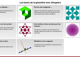 Utiliser Géogébra comme outil de modélisation de constructions géométriques