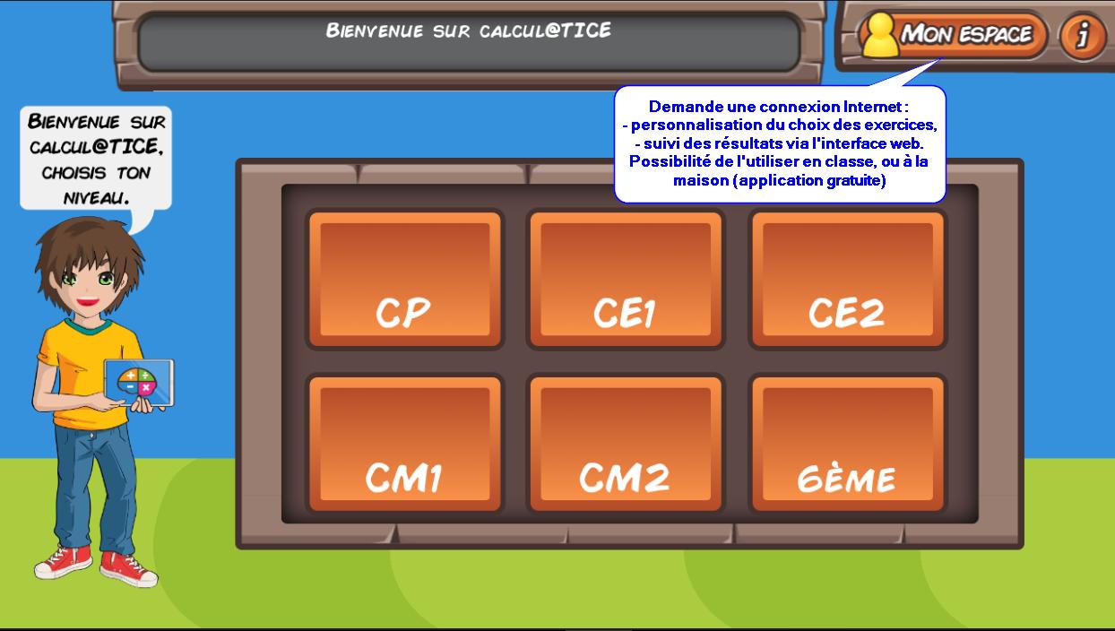 calculatice menu - Formation et ressources numériques